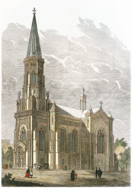 Architekturzeichnung 1865 (Zionsarchiv)