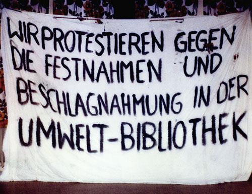 Protestplakat Umwelt-Bibliothek (Zionsarchiv)