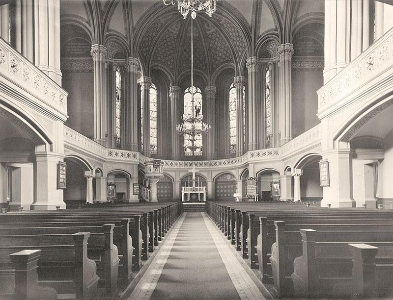 Zionskirche Innenraum 1930 (Zionsarchiv)