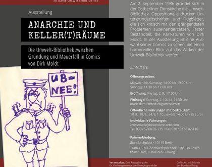 Flyer zur Ausstellung: Anarchie und Keller(t)räume