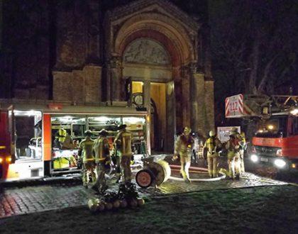 Brand in der Zionskirche